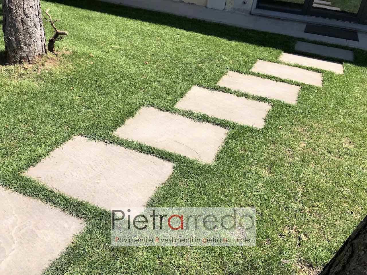 """Vialetti In Pietra Prezzi pavimento in pietra naturale """"arenaria grigia 60cm x 90cm"""""""