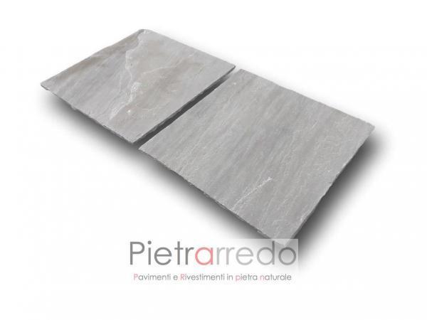 lastrame quadrato piastrelle per esterno resistenti robuste in offerta prezzo costi arenaria grigio pietrarredo milano