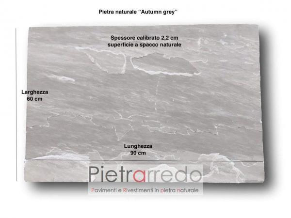 misure e formati autumn grey kandla prezzo e costi offerta pietrarredo pavimento zandobbio lastre