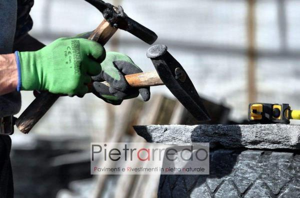 offerta e prezzo beola svizzera vallemaggia mosaico lastre per pavimento sasso pietrarredo milano costi