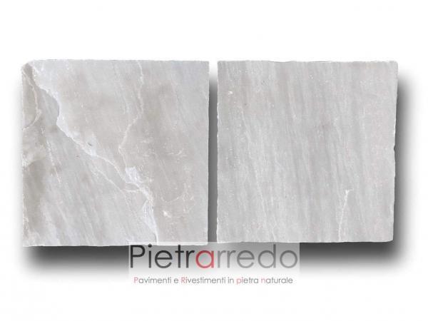offerta e prezzo lastra pietra arenaria per pavimentazioni in sasso colore grigio bello elegante grey indiamn kandla pietrarredo italy