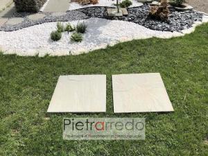 offerta lastra in pietra arenaria grey per passi giapponesi camminamento giardino vialetto secco pietrarredo