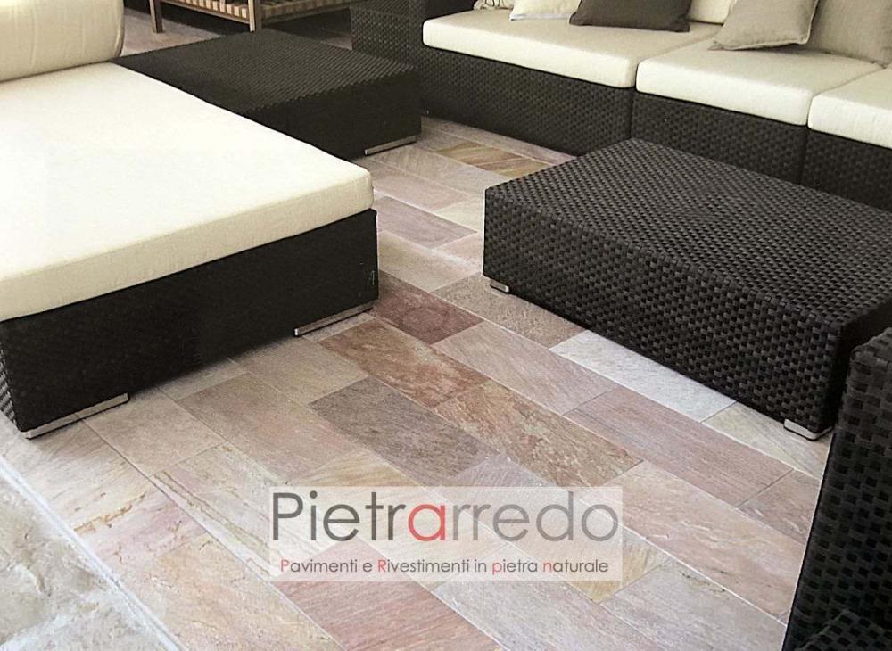 offerta lastre e prezzo in pietra per pavimento in quarzite rosa gontero costi prezzo pietrarredo milano