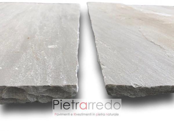 offerta pavimento in pietra arenaria grigia kandla grey autumn india prezzi mq rettangolare squadrato pietrarredo milano italy