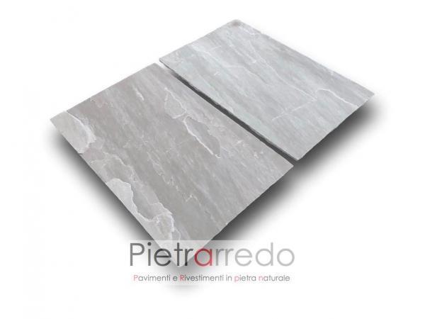 offerta pavimento pietra naturale grigia sandstone autumn grey india pietrarredo milano kandla