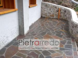 palladiana per esterno pavimento porfido lastre sottili pavè trentino costi euro metro offerta