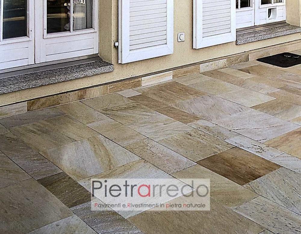 pavimenti in pietra naturale quarzite brasiliana gontero prezzo costi pietrarredo lastre pavimenti