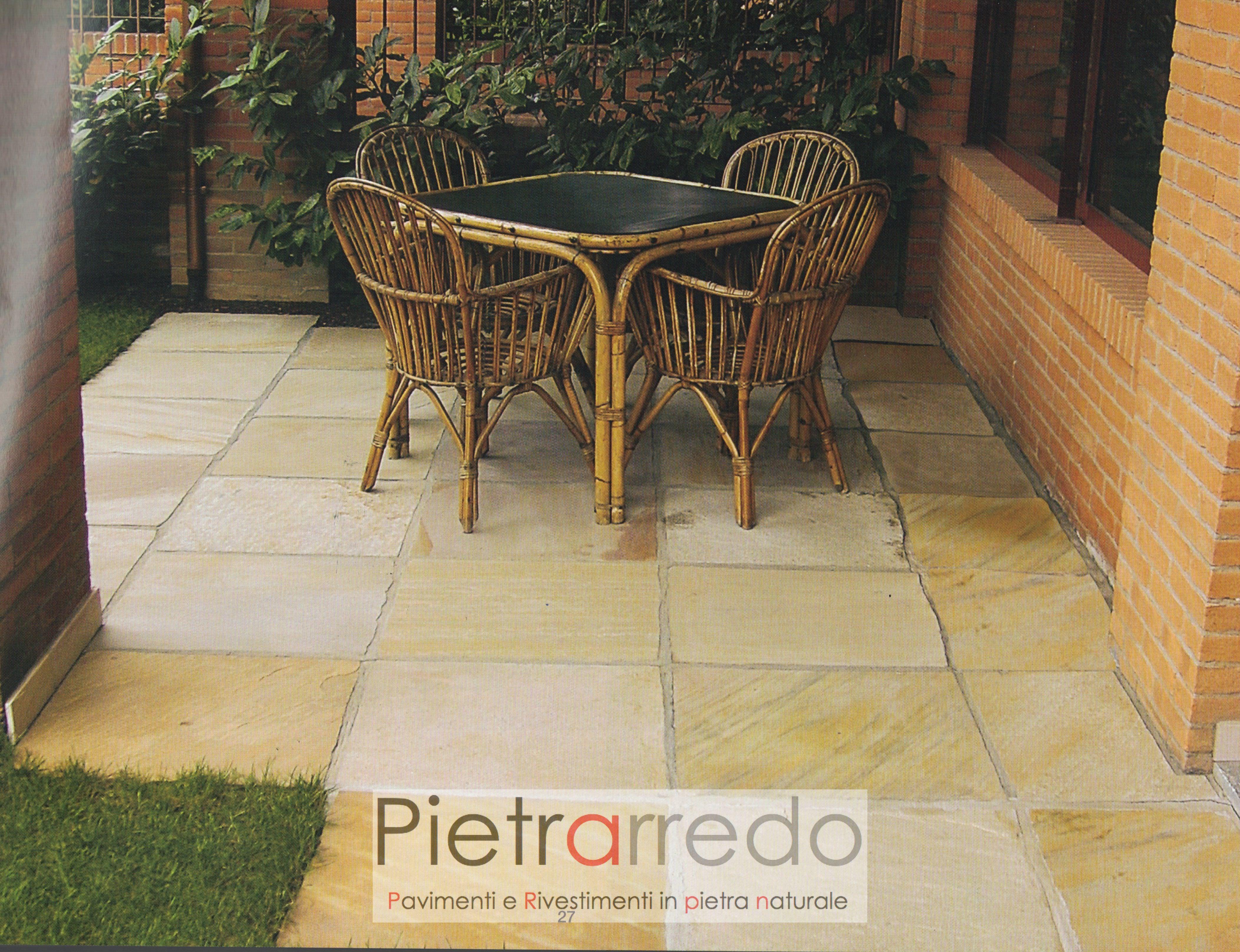 pavimenti quarzite gialla brasiliana gialla gontero costi pretrarredo milano prezzo