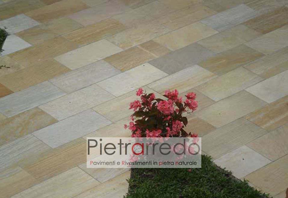 pavimento elegante bello pietra quarzitebrasiliana gialla prezzi offerte gontero barge pietrarredo