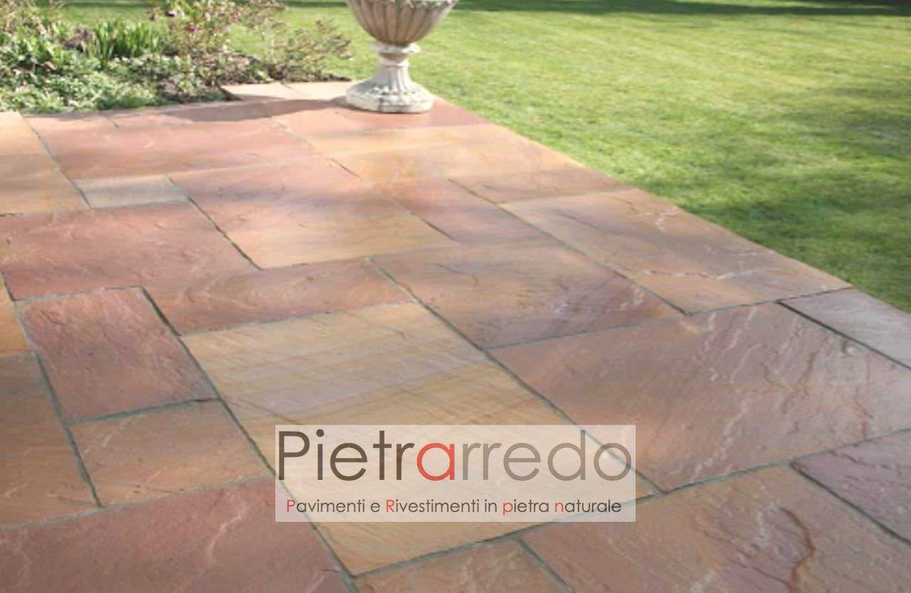 Molto Pavimento pietra Arenaria Indiana Modak rosa rosso spessore SR58