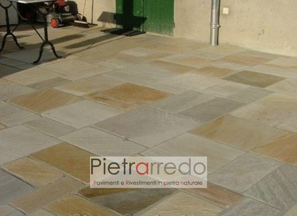 pavimento esterno in pietra quarzite gontero brasiliana gialla rosa prezzi mq lati tranciati pisciine esterne pietrarredo