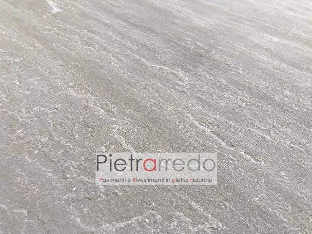 pavimento in arenaria autumn grey kandla indiana indian prezzo piano vcava naturale offerta prezzo metro quadro pietrarredo milano