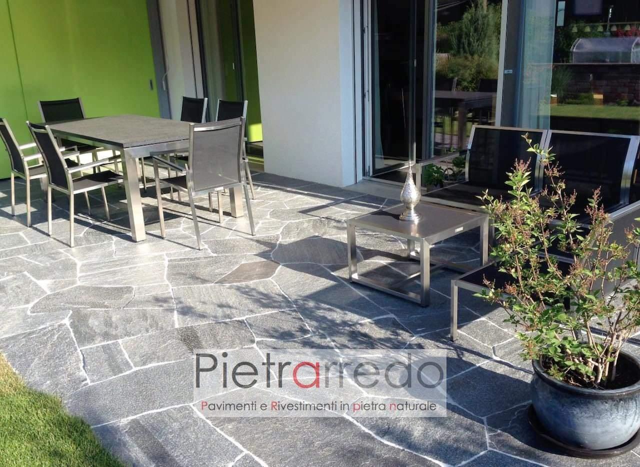 pavimento in beola svizzera vallemaggia graver sasso mosaico opus giardino offerta pavimentazione esterna