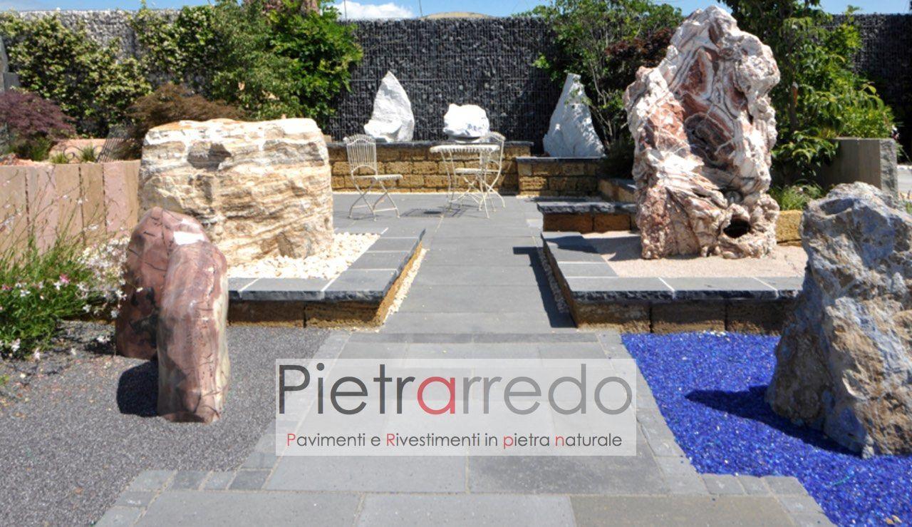 pavimento in pietra arenaria indiana autumn grey offerta kandla prezzo costo pietrarredo