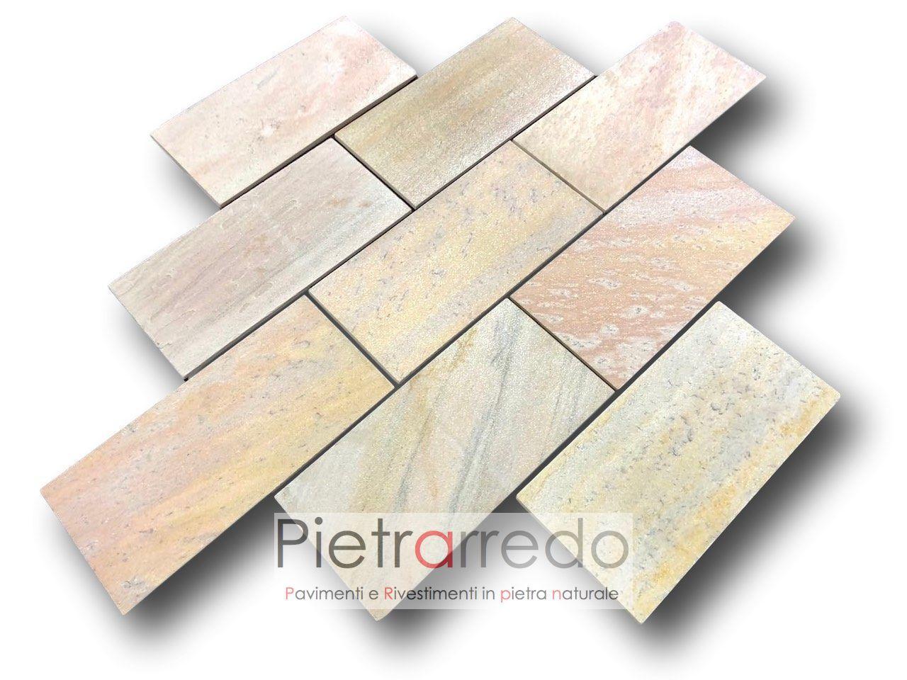 pavimento in pietra quarzite brasiliana bella lastre piastrelle sottili atermiche antiscivolo per sauna centro benessere costo prezzo