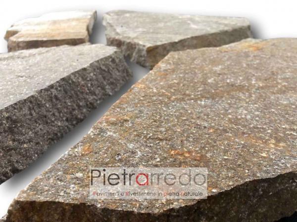 pavimento in porfido mosaico lastrame a pezzi prezzo costi mq pietrarredo milano