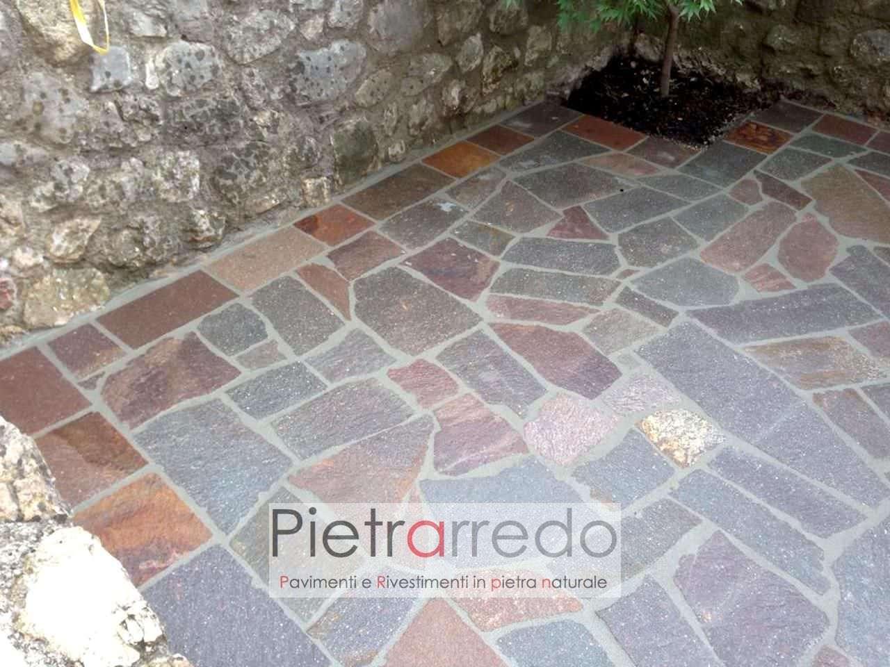 pavimento in porfido opus trentino lastrame in offerta prezzo costi mq milano pietrarredo mosaico