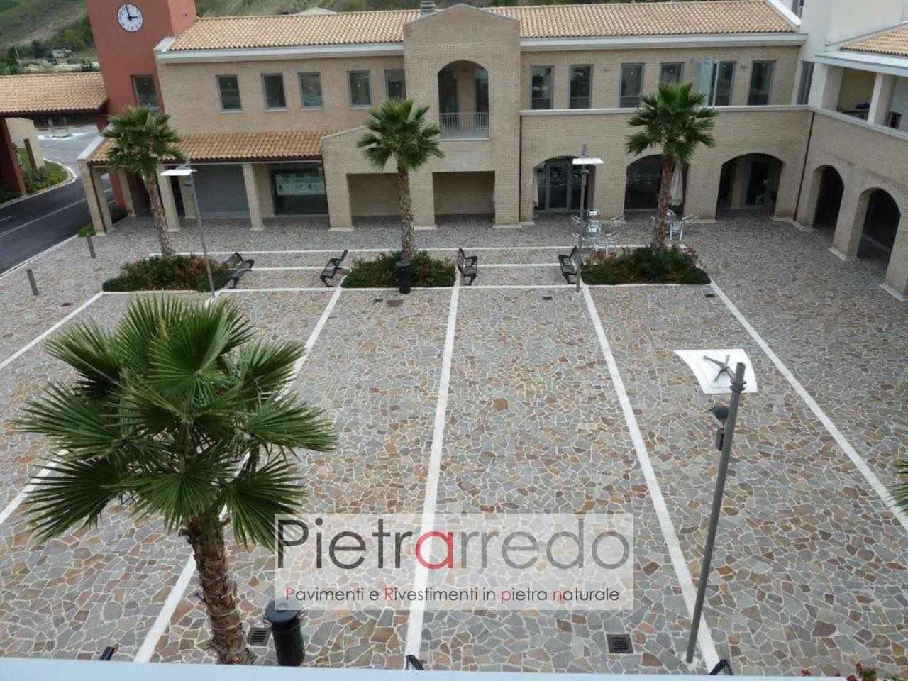 pavimento piazza cortile in porfido lastrame mosaico opus incertum prezzo costi offerta pietrarredo parabiago mi