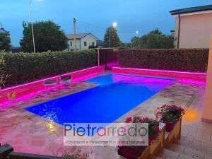 pavimento piscina con quarzite rosa brasiliana pietrarredo milano prezzo