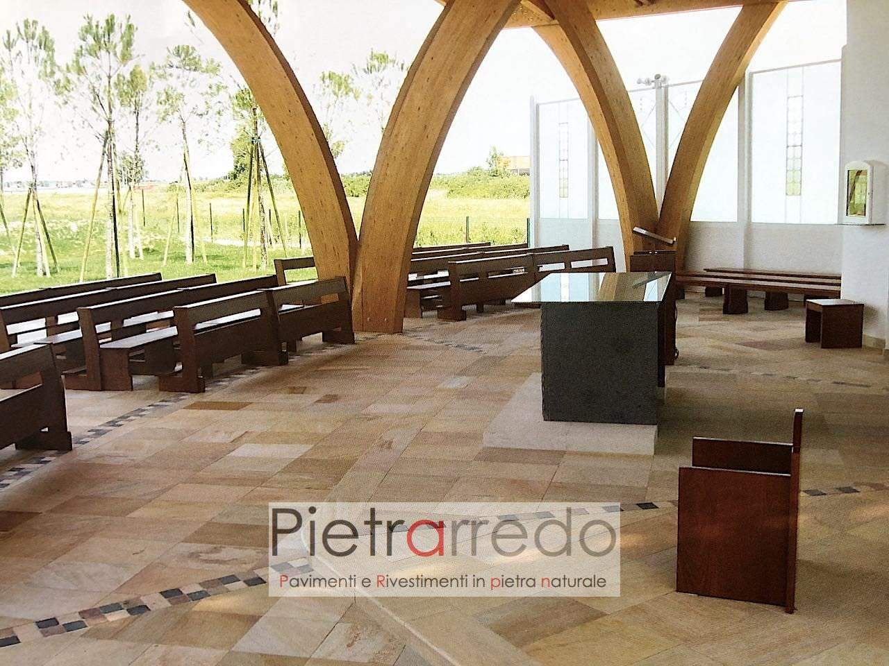 pavimento spa centro benessere piscine quarzite brasiliana pietra rosa gialla prezzo costi milano pietrarredo
