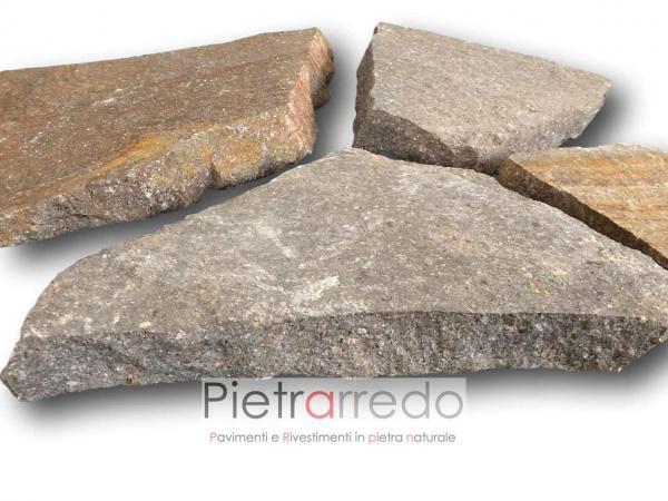 pavimentazione esterna in sasso pietra porfido offerta mosaico opus incertum lastrame prezzo costi