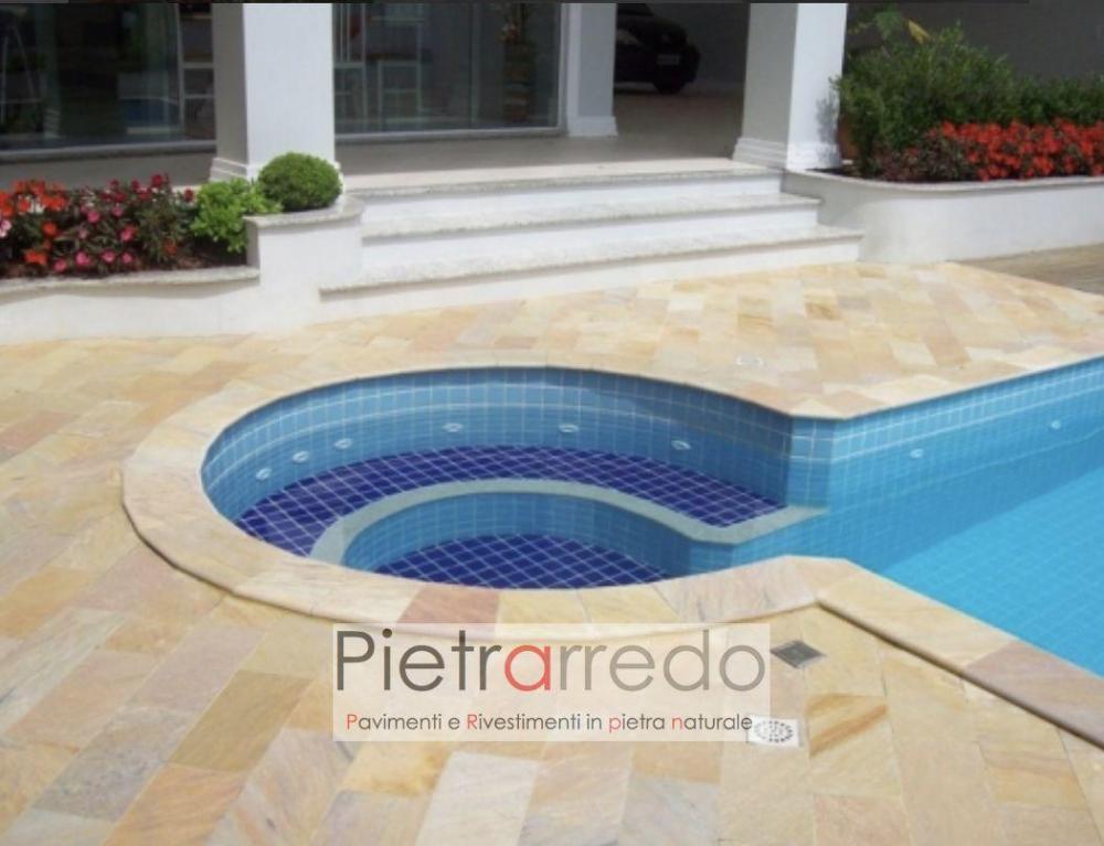 piscina tonda in quarzite brailiana gontero bordi toro prezzo cave barge prezzo pietrarredo milano