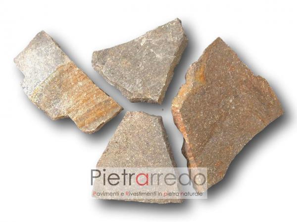 porfido pavimento lastrame lastre mosaico pezzo ruggine selciato pietrarredo milano