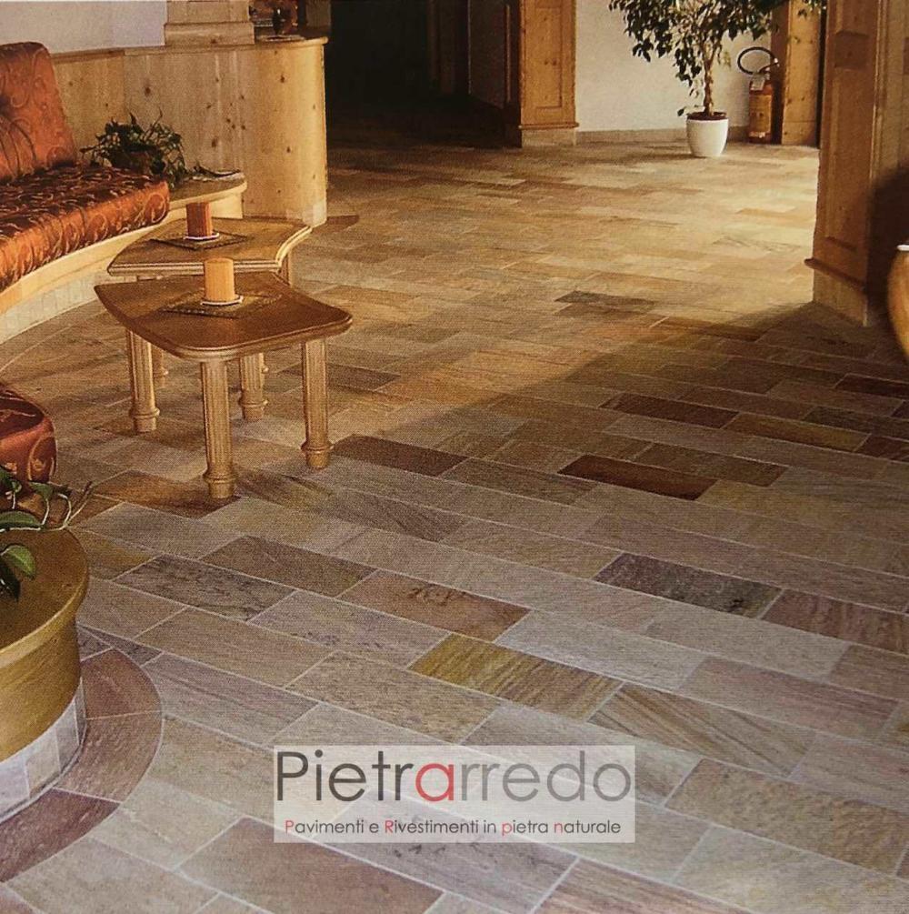 prezzo pavimento in pietra quarzite brasiliana lati segati gontero pietrarredo sconti milano pietra