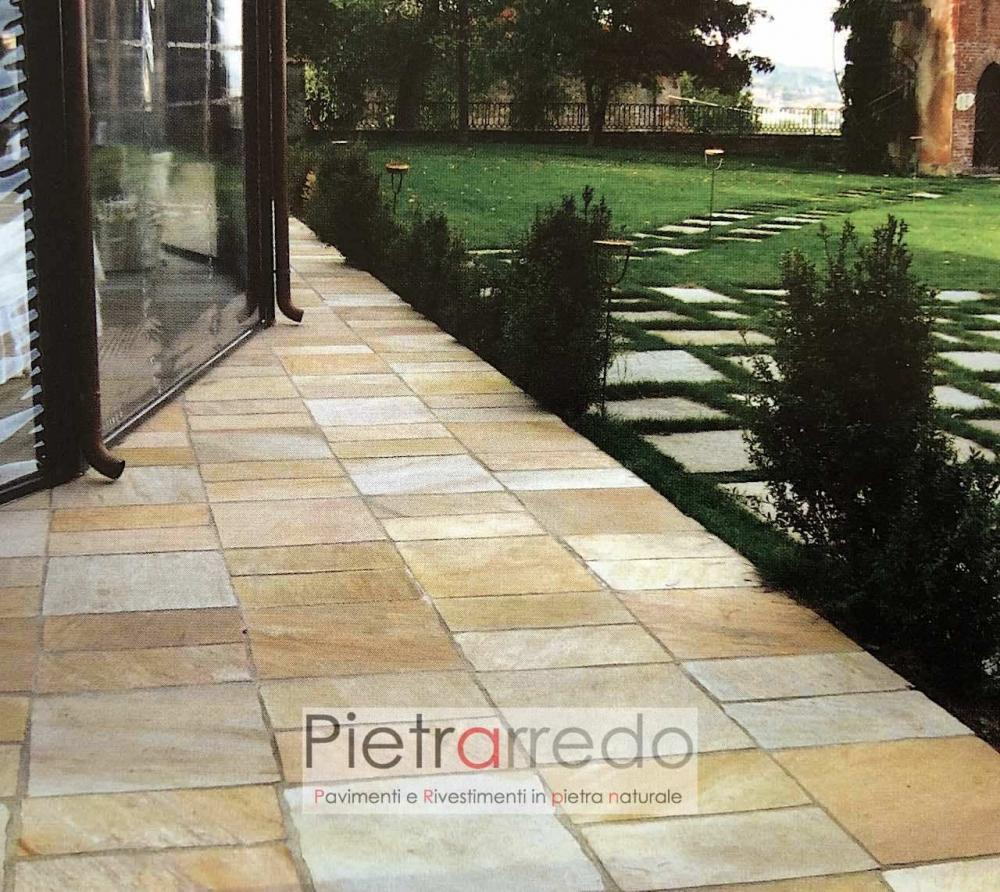 prezzo pavimento in sasso quarzite giallabrasiliana gontero prezzi costi offerta pietrarredo milano