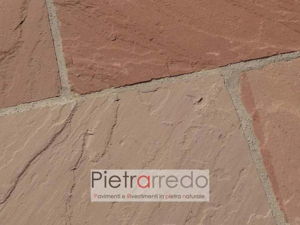 prezzo stock per pavimento in sasso pietra da esterno formati giganti grandi prezzo costi modak arenaria pietrarredo milano