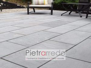 sandstone autumn grey prezzo pietra a lastre per pavimento esterno india costo pietrarredo milano