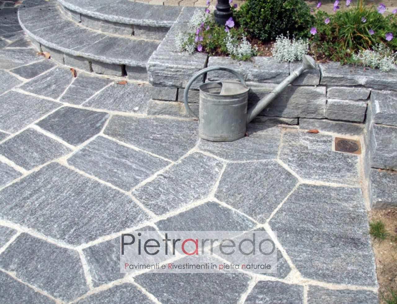 selciato opus lastrame beola pietra vallemaggia svizzera costi offerte con fuga da esterno