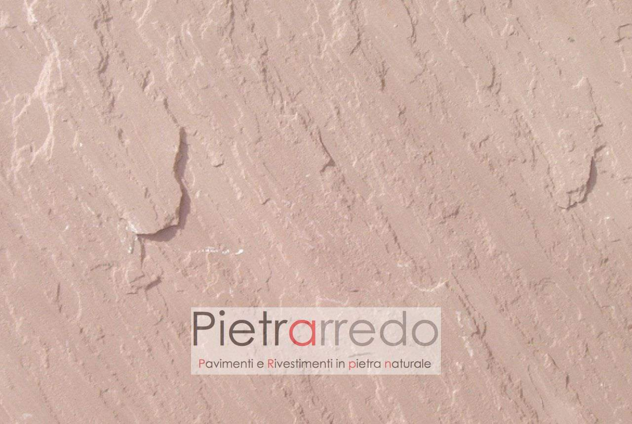 stone on sale sandstone pink modak prezzo costi pavimenti sasso esterni pietrarredno milano