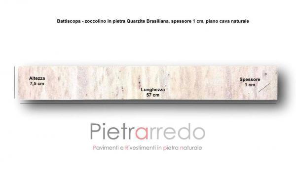 battiscopa in pietra listello in quarzite brasiliana rosa gialla per piscine vasche idromassaggio prezzo gontero pietrarredo milano