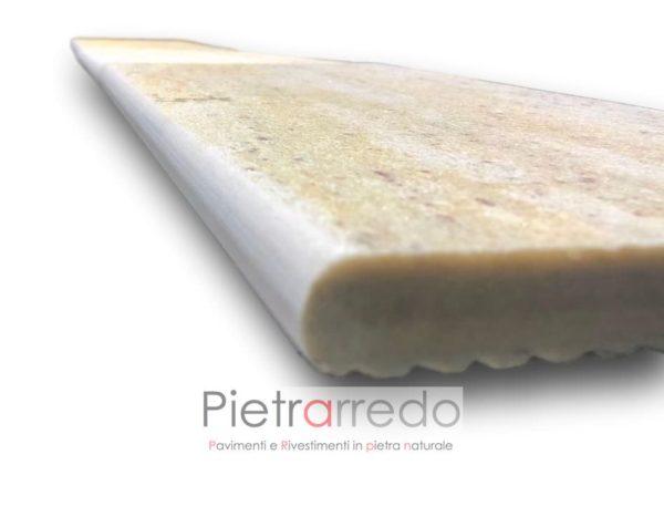 costo bordo piscina lati perimetro con rotondo elegante bello sasso quarzite brasiliana prezzo pietrarredo