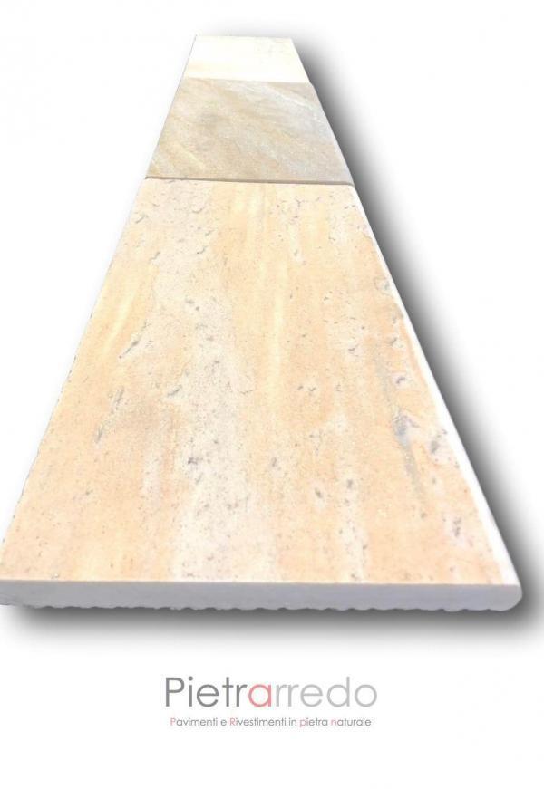 lastre in pietra naturale quarzite brasiliana per bordi piscina costi antiscivolo gradini centri benessere terme pietrarredo