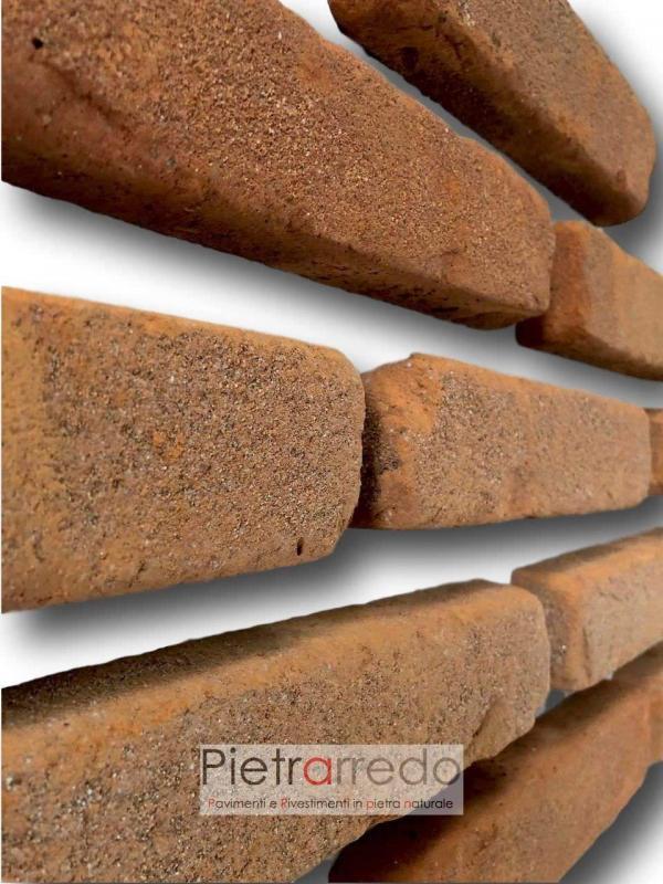 liste in terracotta mattone da rivestimento antiche mura prezzo pica costi terreal pietrarredo