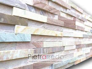 listello quarzite rosa brasile cave gontero san tomè listelli bofferta costi pricitaly pietrarredo stone cladding