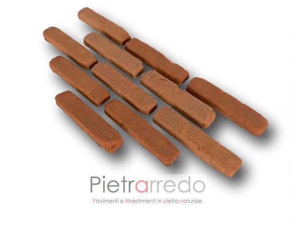 mattone a listelli classico rosso anticato antiche mura pica san marco dogi prezzo costi pietrarredo milano