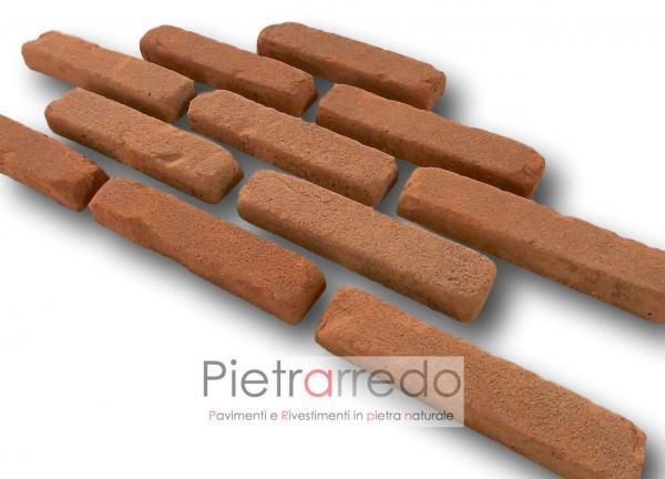 mattone per restauro antiche mura rosso listelli vecchio anticato fatto a mano costi prezzo pietrarredo