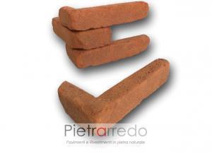 mattone terra cotta rosso antichie mura angolare spigolo arco pilastro a l prezzo costo pietrarredo milano
