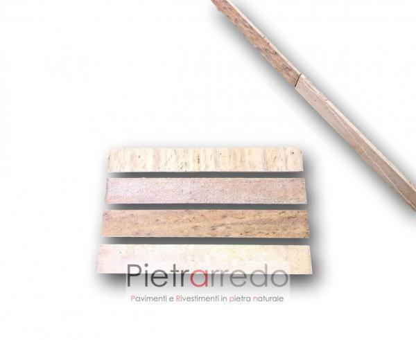 offerta battiscopa zoccolino in pietra sasso quarzite brasiliana listelli altezza 7,5cm costo