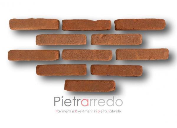 offerta listelli in cotto mattone antiche mura terreal pica san marco listelli prezzi costi rosso