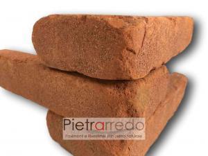 offerta prezzo mattone rosso cotto anticato vecchio spigolo angolare a l listello prezzo antiche mura pica terreal san marco