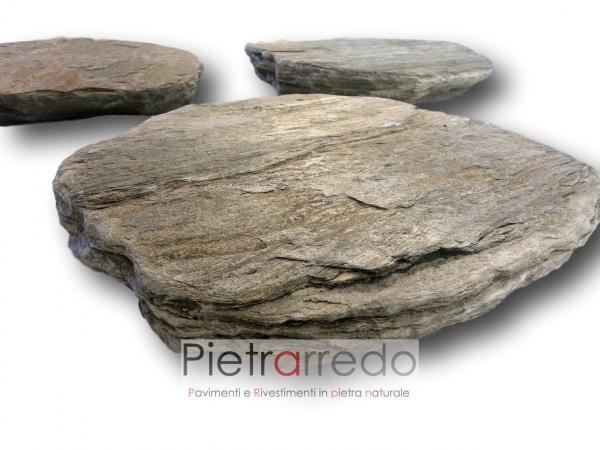 offerta stone garden passo giapponese camminamento prato fangfoso in pietra sasso vialetto prezzo pietrarredo