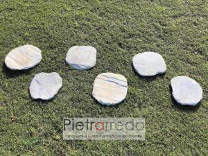 passi camminamento pietra per giardino prato arredo pietrarredo garden stone prezzo quarzite brasiliana costi stone city zandobbio milano