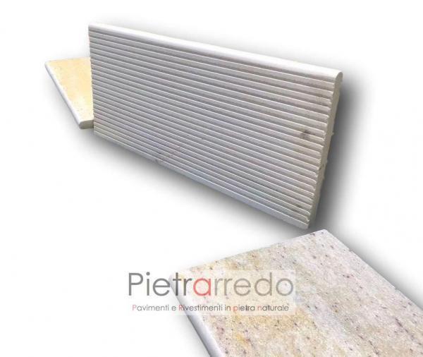 piastrelle per pavimento bordo piscina in pietra quarzite brasile costo prezzo pietrarredo milano retrosegata