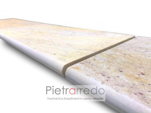 pietra atermica antiscivolo in quarzite brasiliana prezzo metro con toro tondo pietrarredo