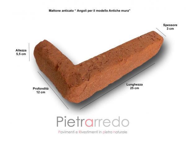 prezzo mattone antiche mura pietrarredo milano mattone rosso pica san marco terreal offerta listello