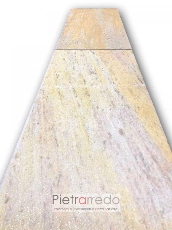 prezzo pavimento bordo piscina gradino in quarzite brasiliana offerta gontero spessore 2 cm